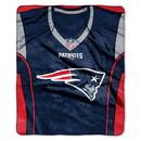 New England Patriots Blanket 50x60 Raschel Jersey Design