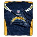 Los Angeles Chargers Blanket 50x60 Raschel Jersey Design
