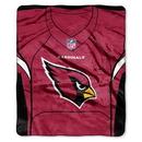 Arizona Cardinals Blanket 50x60 Raschel Jersey Design