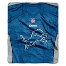 Detroit Lions Blanket 50x60 Raschel Jersey Design