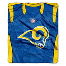 Los Angeles Rams Blanket 50x60 Raschel Jersey Design