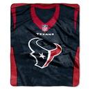 Houston Texans Blanket 50x60 Raschel Jersey Design