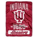 Indiana Hoosiers Blanket 46x60 Raschel Varsity Design Rolled