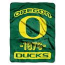 Oregon Ducks Blanket 46x60 Raschel Vasity Design Rolled