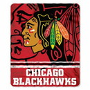 Chicago Blackhawks Blanket 50x60 Fleece Fade Away Design
