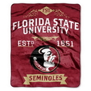 Florida State Seminoles Blanket 50x60 Raschel Label Design