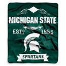 Michigan State Spartans Blanket 50x60 Raschel Label Design