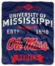 Mississippi Rebels Blanket 50x60 Raschel Label Design