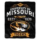 Missouri Tigers Blanket 50x60 Raschel Label Design