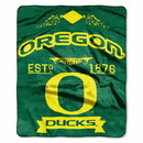 Oregon Ducks Blanket 50x60 Raschel Label Design