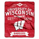 Wisconsin Badgers Blanket 50x60 Raschel Label Design