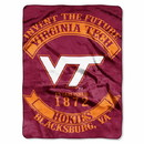 Virginia Tech Hokies Blanket 60x80 Raschel Rebel Design