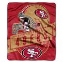 San Francisco 49ers Blanket 50x60 Raschel Grandstand Design - Old UPC