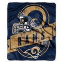 St. Louis Rams Blanket 50x60 Raschel Grandstand Design