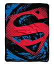 Superman Blanket 46x60 Fleece Ripped Shield Design