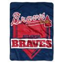 Atlanta Braves Blanket 60x80 Raschel Home Plate Design