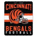 Cincinnati Bengals Blanket 50x60 Fleece Singular Design