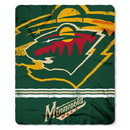 Minnesota Wild Blanket 50x60 Fleece Fade Away Design