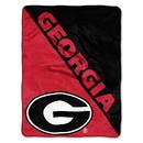 Georgia Bulldogs Blanket 46x60 Micro Raschel Halftone Design Rolled