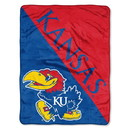 Kansas Jayhawks Blanket 46x60 Micro Raschel Halftone Design Rolled