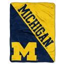Michigan Wolverines Blanket 46x60 Raschel Halftone Design Rolled