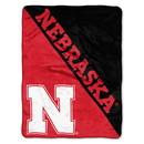 Nebraska Cornhuskers Blanket 46x60 Micro Raschel Halftone Design Rolled