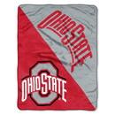 Ohio State Buckeyes Blanket 46x60 Micro Raschel Halftone Design Rolled