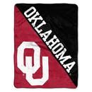 Oklahoma Sooners Blanket 46x60 Micro Raschel Halftone Design Rolled