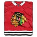 Chicago Blackhawks Blanket 50x60 Raschel Jersey Design