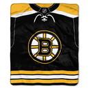 Boston Bruins Blanket 50x60 Raschel Jersey Design -New