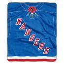 New York Rangers Blanket 50x60 Raschel Jersey Design