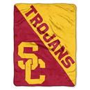 USC Trojans Blanket 46x60 Micro Raschel Halftone Design Rolled Special Order