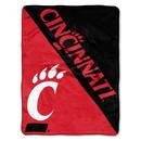Cincinnati Bearcats Blanket 46x60 Micro Raschel Halftone Design Rolled