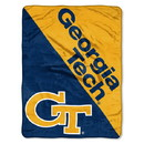 Georgia Tech Yellow Jackets Blanket 46x60 Micro Raschel Halftone Design Rolled