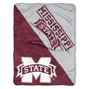 Mississippi State Bulldogs Blanket 46x60 Micro Raschel Halftone Design Rolled Special Order