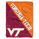 Virginia Tech Hokies Blanket 46x60 Micro Raschel Halftone Design Rolled Special Order