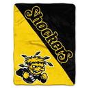 Wichita State Shockers Blanket 46x60 Micro Raschel Halftone Design Rolled Special Order