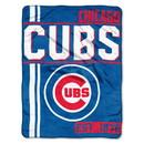 Chicago Cubs Blanket 46x60 Raschel Structure Design Rolled