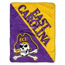 East Carolina Pirates Blanket 46x60 Micro Raschel Halftone Design Rolled Special Order