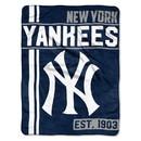 New York Yankees Blanket 46x60 Micro Raschel Walk Off Design