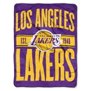 Los Angeles Lakers Blanket 46x60 Micro Raschel Clear Out Design Rolled