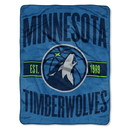 Minnesota Timberwolves Blanket 46x60 Micro Raschel Clear Out Design Rolled