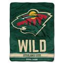 Minnesota Wild Blanket 46x60 Micro Raschel Breakaway Design Rolled Special Order