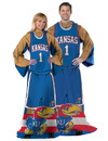 Kansas Jayhawks Blanket 48x71 Comfy Throw Player Design Special Order