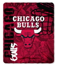 Chicago Bulls Blanket 50x60 Fleece Hard Knock Design