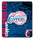 Los Angeles Clippers Blanket 50x60 Fleece Hard Knock Design
