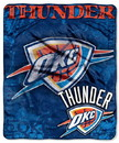 Oklahoma City Thunder Blanket 50x60 Raschel Drop Down Design