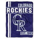 Colorado Rockies Blanket 46x60 Micro Raschel Walk Off Design Rolled Special Order
