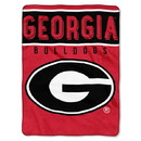 Georgia Bulldogs Blanket 60x80 Raschel Basic Design
