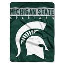 Michigan State Spartans Blanket 60x80 Raschel Basic Design
